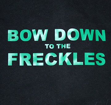 Bow Down to the Freckles Tshirt St Patricks Day t-shirt funny tee cool irish tshirt st patricks day shirt on Etsy, $20.00