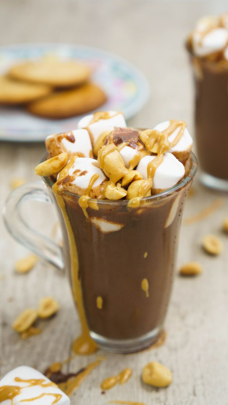 Scrumptious and cozy winter drink. This peanut butter hot chocolate is all your cold nights need. Learn how to make it in less than 15 minutes!