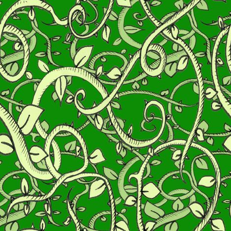 Deep in the Jungle - Deep Green fabric by Miraculous Mosquito on Spoonflower - custom fabric