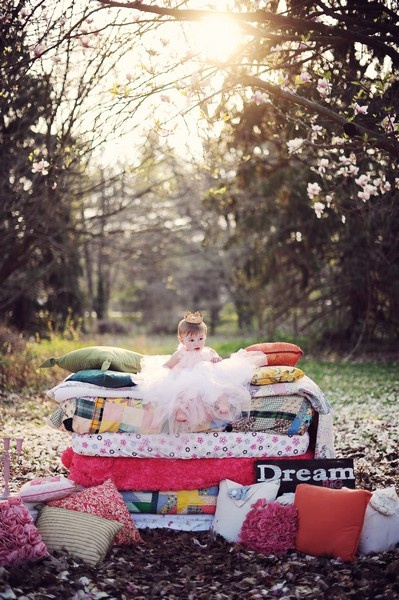 Princess and the Pea  -- I loved this book as a child.  I have to do this with my daughter!