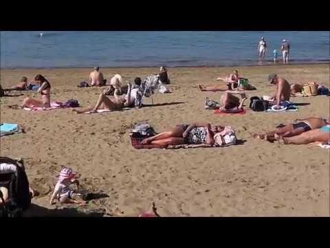 """La Playa Las Canteras en un """"Día de verano en Invierno"""""""