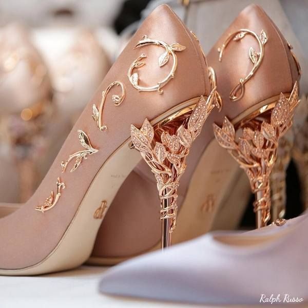 Ralph Russo Wedding Shoes 4 04042017   Deer Pearl Flowers