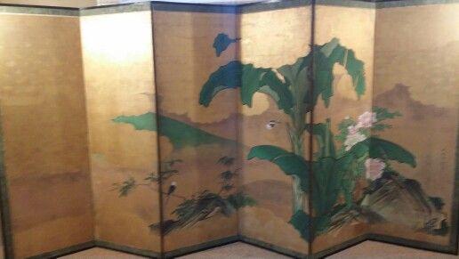Piante di banane e Peonie - Paravento a sei ante - Periodo Edo 1615-1867 - Villa Silicani Ceccato fino al 4 Ottobre 2015