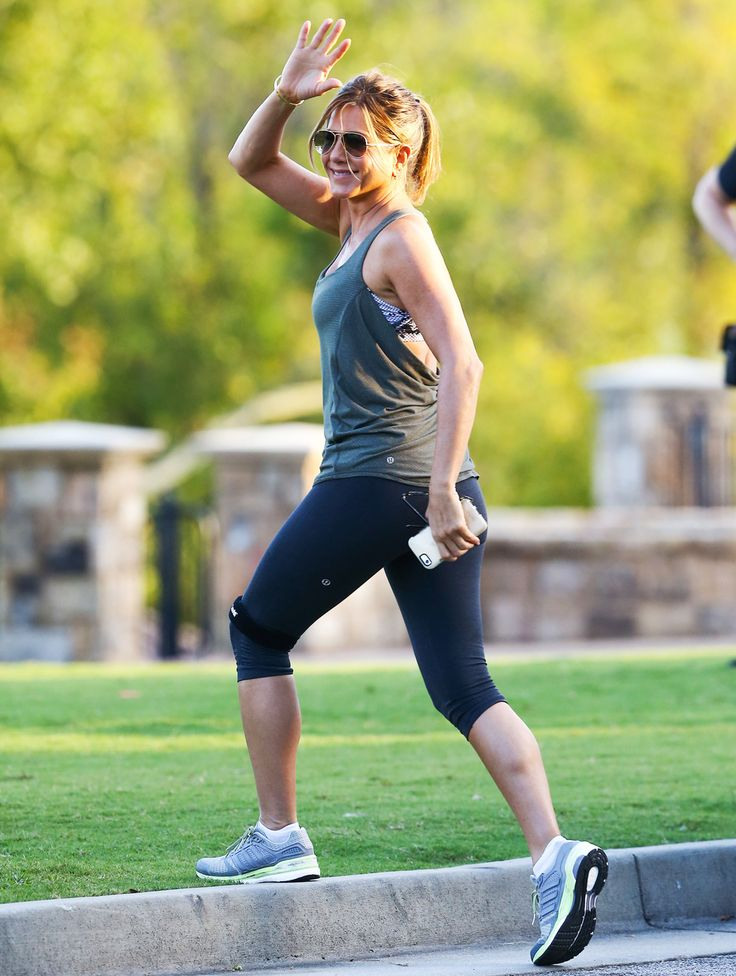 Jennifer Aniston showed off her killer physique while filming a running scene for her new movie, Mother's Day. Find out exactly what workout she does straight from her trainer.