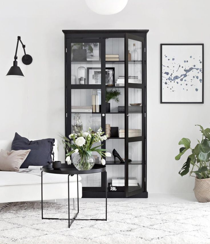 Black bookcase | via Stylizmo blog