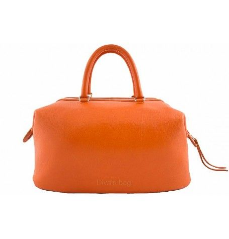 Tote Bags : Top Handle Leather Handbag By Divas