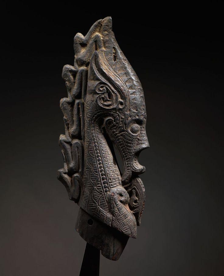 Dragon Head Stopper for Shaman's Magic Horn  Naga Morsarang  Batak,Sumatra  Wood  18th/early 19th Century  15 in/38cm
