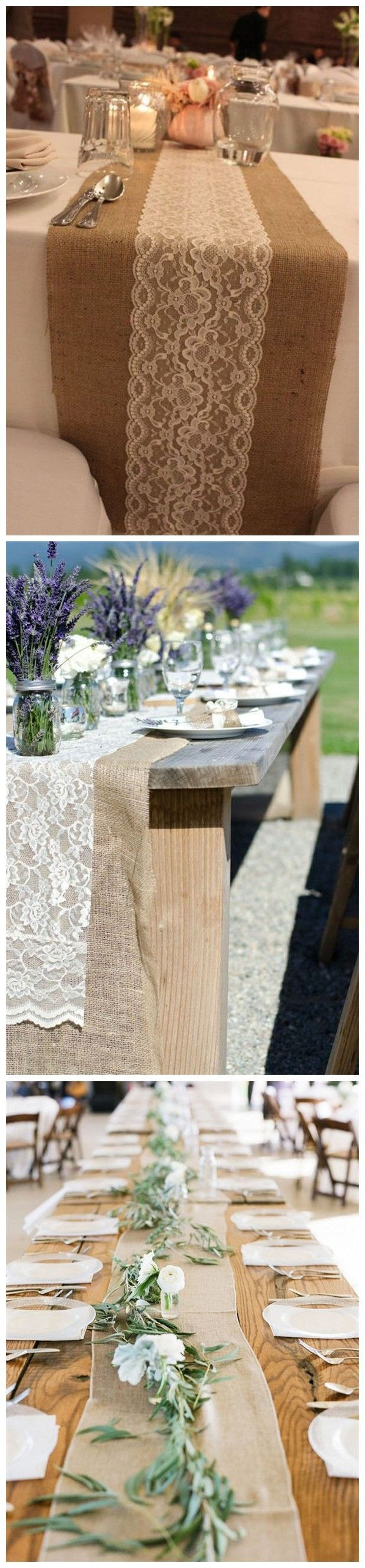 Best 25 burlap wedding tables ideas on pinterest burlap for Table runner ideas