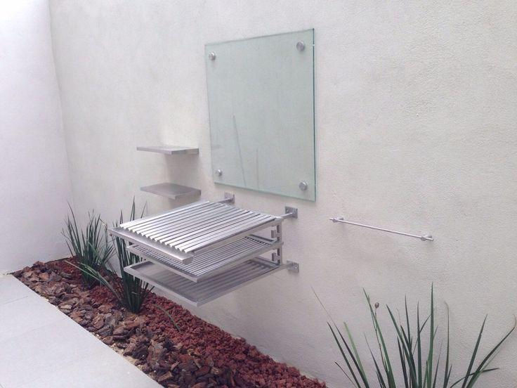 asador acero inoxidable moderno minimalista saludable