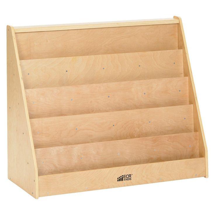 Single Sided Book Display Wood - ECR4Kids