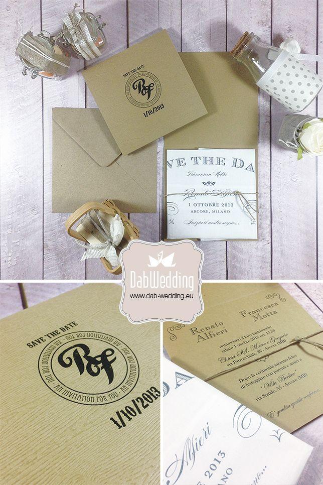 Cheryl, partecipazione nozze country by Dab Wedding. www.dab-wedding.eu