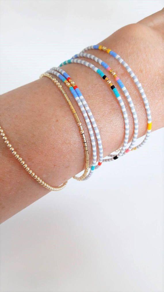 Tiny bracelet Layering Bracelet Delicate Bracelet Stackable