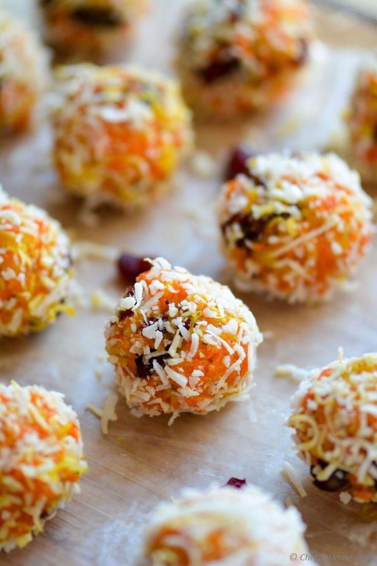 Indian Gajar Halwa Ladoo - Sweet Carrot and Coconut Truffles Recipe | ChefDeHome.com