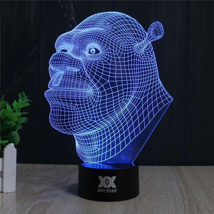 SHREK 3D LED LAMP