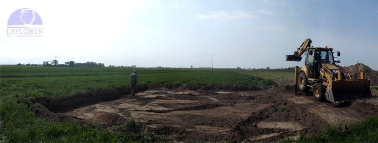 Nadzór archeologiczny nad pracami ziemnymi.