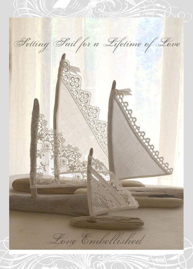 Driftwood & Lace Sailboats by LoveEmbellished