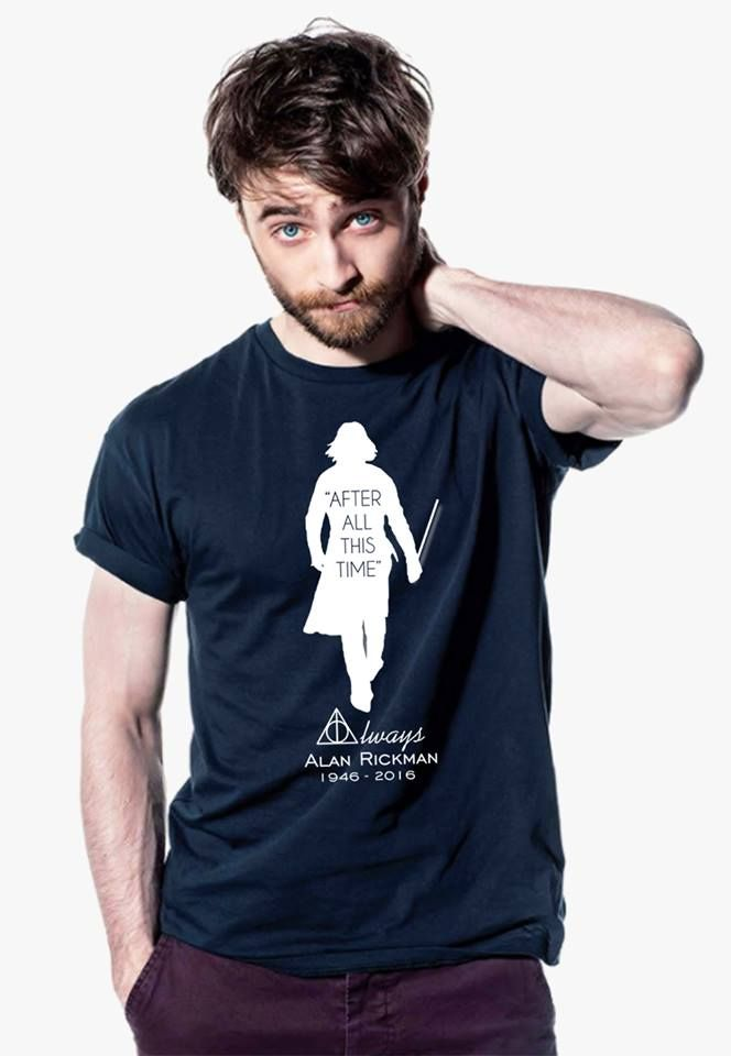 Alan Rickman Tribute - Special T-shirt & Hoodies. And look! Daniel is modelling it!