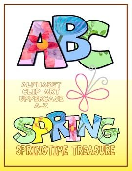 """Use these colorful ABC clip art letters to make posters, worksheets, schedule cards, and labels for your classroom. (26 PNG images; Uppercase A-Z)I love """"hassle-free"""" clipart, so feel free to use this clipart any way you want for both personal and commercial products."""