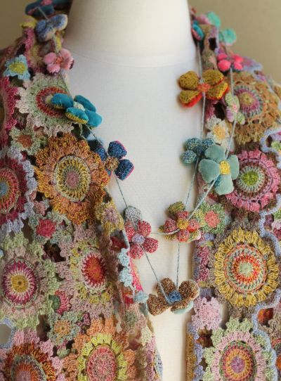 sophie digard necklace and scarf