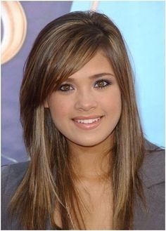 Long Layered Hair With Side Swept Bangs | Light Brown Hair with Side Bangs: Long Hairstyles | Popular Haircuts