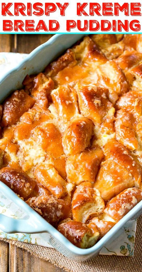 Apr 8, 2020 – Stale doughnuts get revived with this rich, heavenly Krispy Kreme Bread Pudding.
