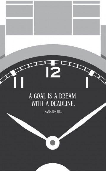 Quotes & Design. Un obiettivo è un sogno…