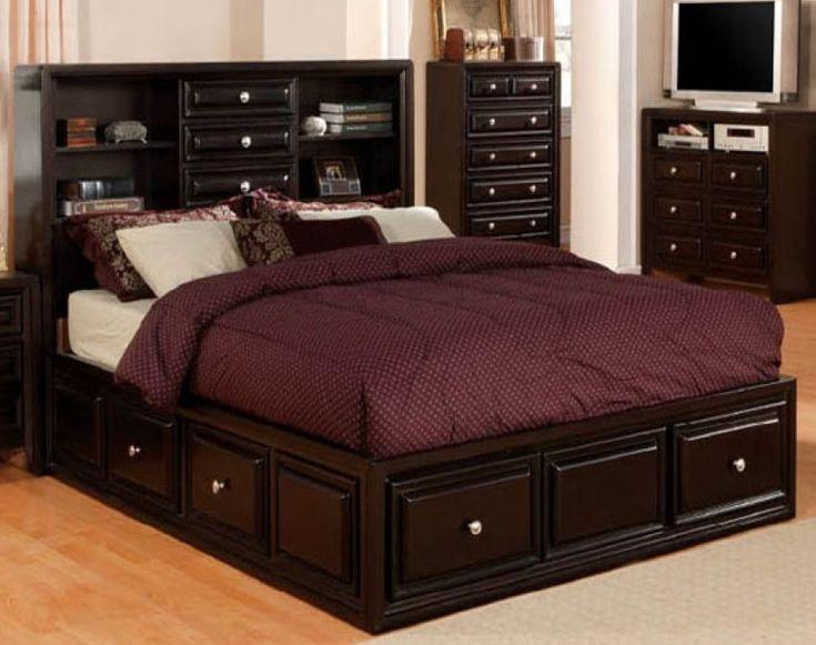 Gothic cabinet craft yorkville queen size captains bed for Gothic cabinet craft platform bed