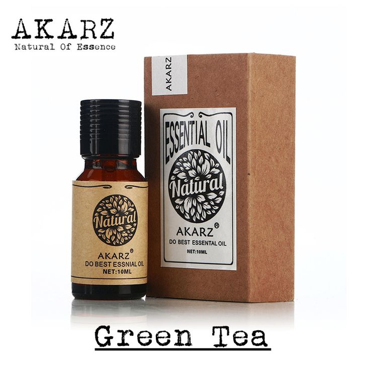 AKARZ Famous brand pure natural aromatherapy green tea essential oil slimming radiation protection against bad breath refreshing