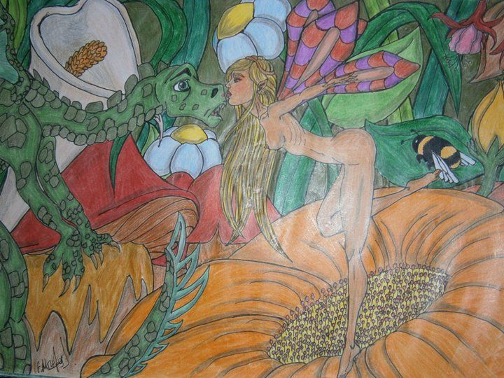 Lia B. Creations: The fairy and the Dragon