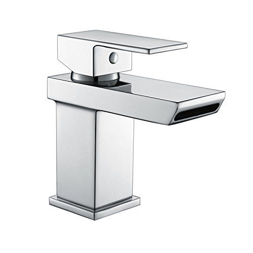 [Waterfall Basin Tap] Hapilife Stunning Bathroom Sink Mixer Monoblock Tap Chrome Single Lever