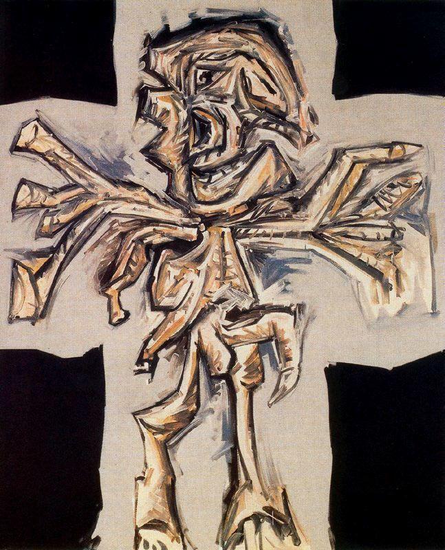 Antonio SAURA. Crucifixión. Óleo sobre lienzo. Museo Nacional Centro de Arte Reina Sofia. Madrid