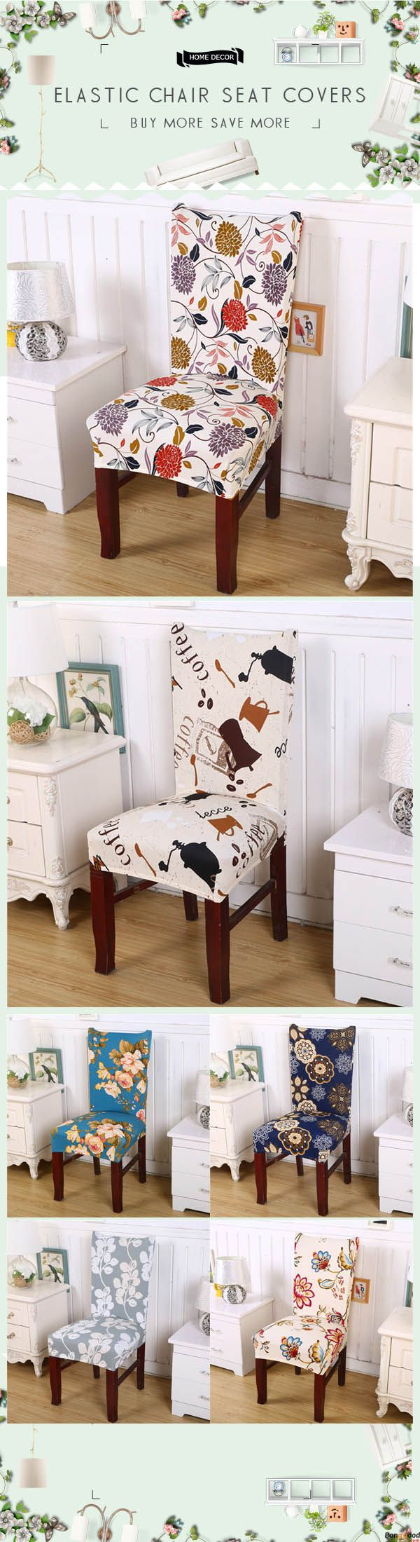 Removable Fashion Dining Chair Cover Protector Seat Covering Hotel Ceremony Dining Room Decor. US$6.99 + Free Shipping. Shop at banggood with super affordable price.