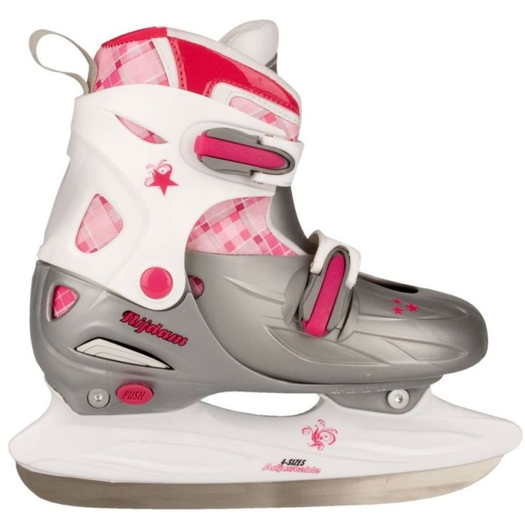 Figure Skating Shoes Sport Activity White Pink Girls Figure Skates Size 27-30 #FigureSkatingShoes
