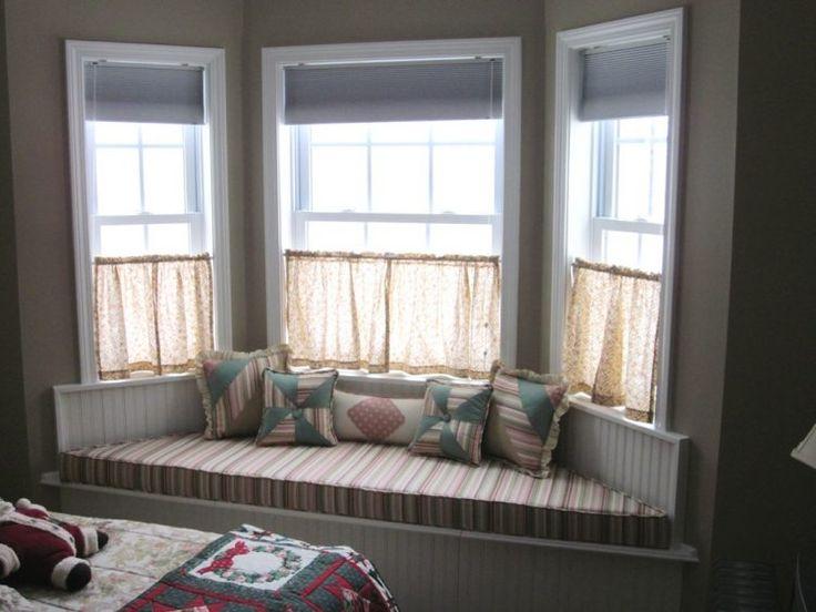 14 besten erker gardinen bilder auf pinterest gardinen erkerfenster und gro e fenster. Black Bedroom Furniture Sets. Home Design Ideas