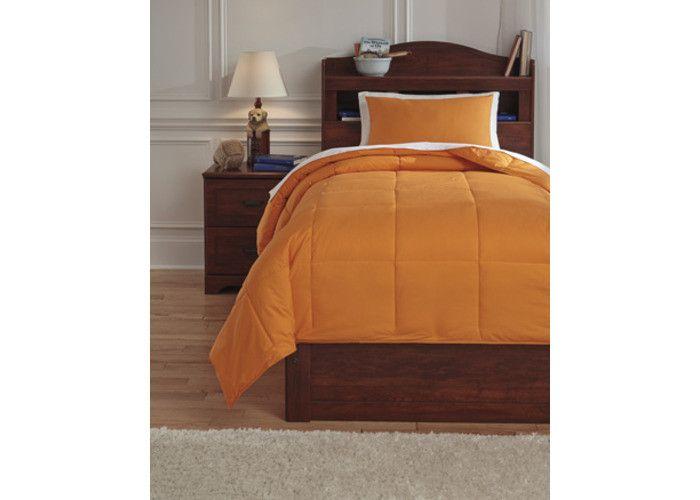 Q759081T Plainfield Twin Comforter Set - Orange - Free Shipping!