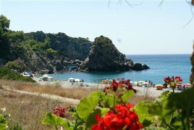 Playa El Cañuelo, Nerja, Costa del Sol, Málaga, Andalucia, Spain