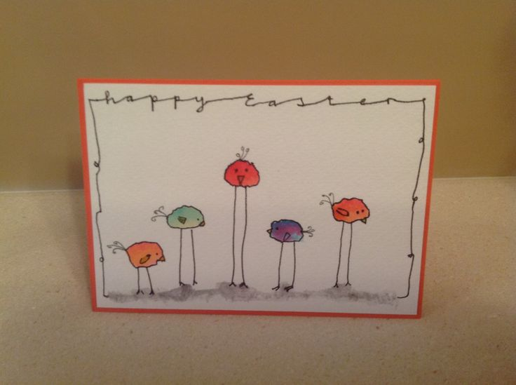 Easter card, very easy to make following the example from elvie studio.