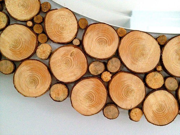 DIY Wood Slice Mirror - Wood Slices