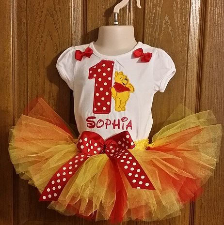 Personalized Girl's Winnie the Pooh Birthday Party by GigisClozet, $43.00