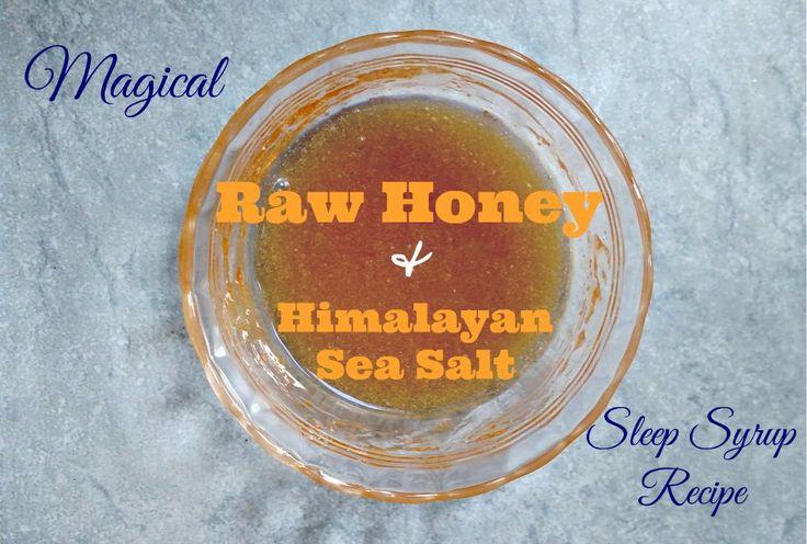 Easy natural sleep remedy! Himalayan sea salt and honey sleep recipe