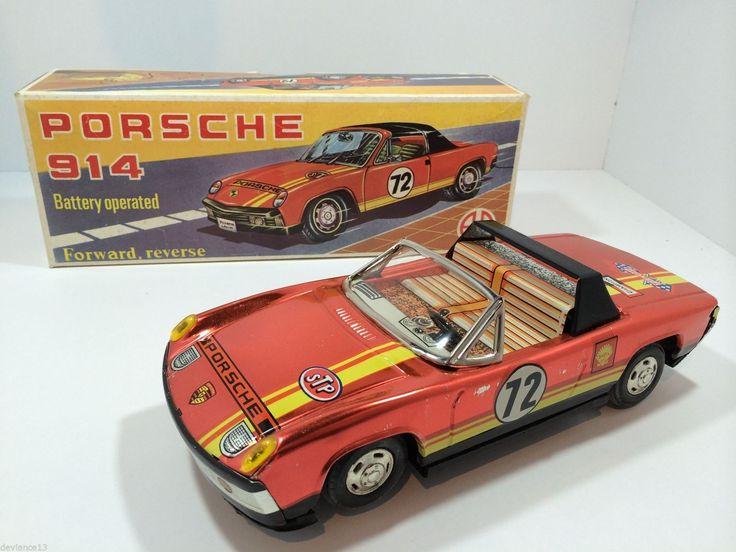 RARE 60's AA TIN GREEK VW PORSCHE 914 /6 RACER BATTOP RED DAIYA JAPAN COPY MIB | eBay