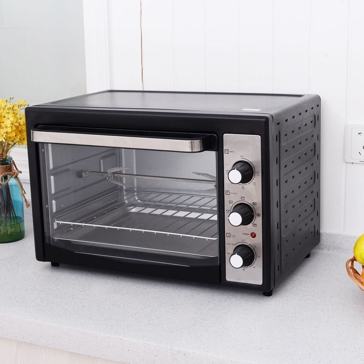 Costway 1800W Electric Toaster Oven Convection Broiler 40L Countertop with Drip Pan, Black (Stainless Steel)