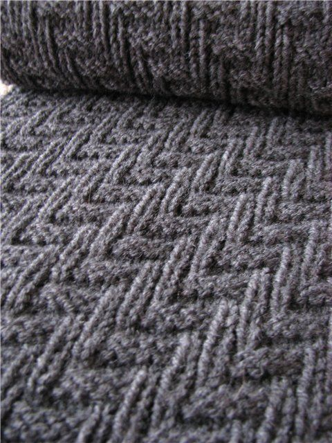 Interesting tailored #knitting #stitch #pattern with chart. Just knits & purls - 15 row repeat. Alternate rows knit as indicated. Very easy, but this is a pattern you must watch while you knit. Not a knit while watching a movie pattern!
