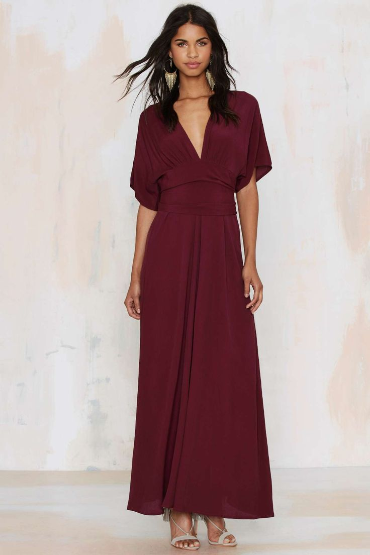 Own the night maxi dress nasty gal