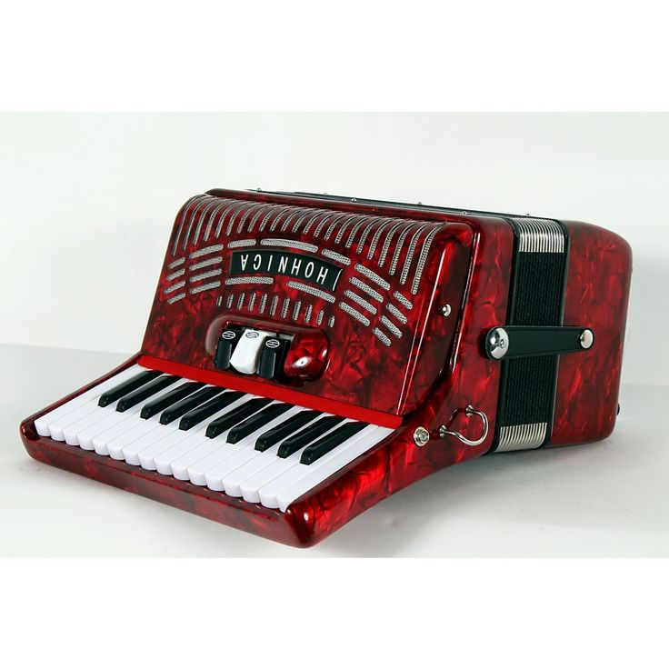 Hohner 48 Bass Entry Level Piano Accordion Red 888366033906
