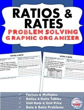 ratios and rates word problems with graphic organizer words student and problem solving. Black Bedroom Furniture Sets. Home Design Ideas