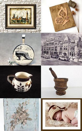 Beautiful Finds in Brown ! by Johanne Laramee on Etsy--Pinned with TreasuryPin.com