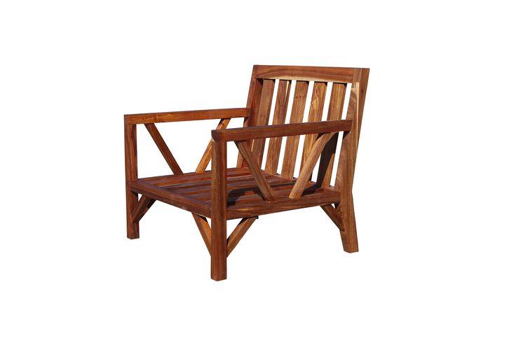A custom kiaat single armchair frame
