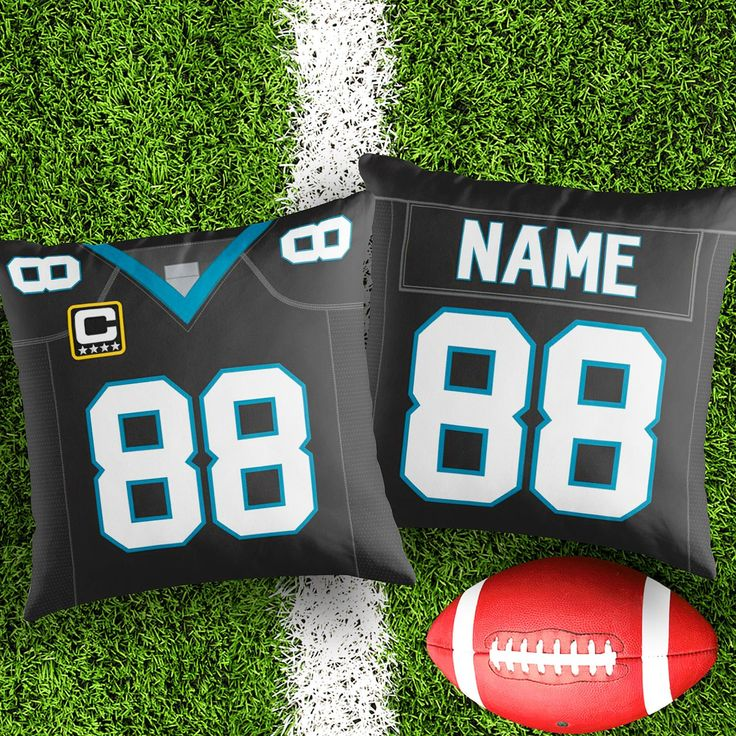 Personalised Carolina Panthers decorative Cushion Cover Fan inspired product Gift for boyfriend american football