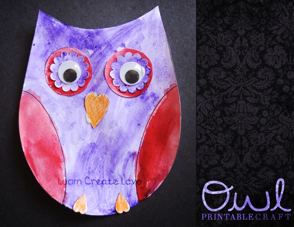 Tons of free Owl Crafts with Printables from  Learn Create Love